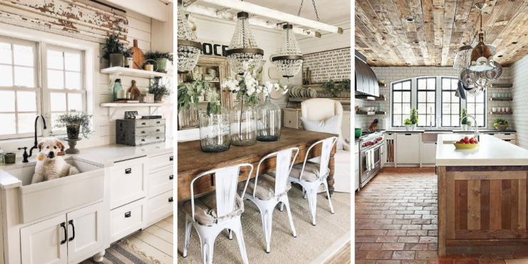 farmhouse decor ideas with reclaimed wood and vintage elements