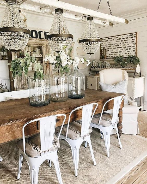 farmhouse dining room elegant rustic