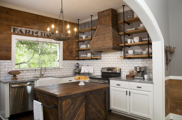 farmhouse kitchen rustic reclaimed wood