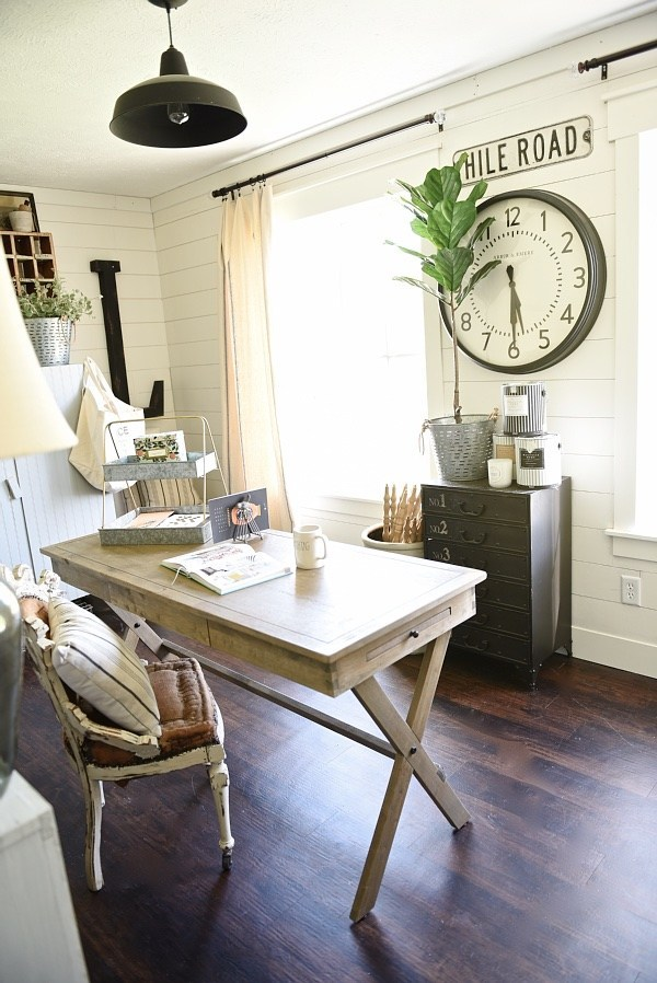 farmhouse style office accessories vintage and rustic