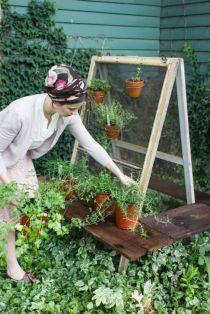 garden diy rustic vintage window screen planter