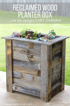 planter with reclaimed wood spring diy garden