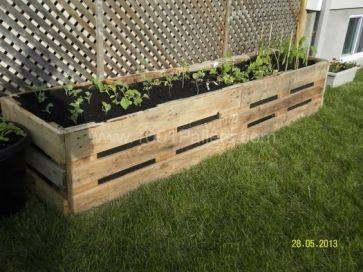 reclaimed wood raised garden bed spring diy