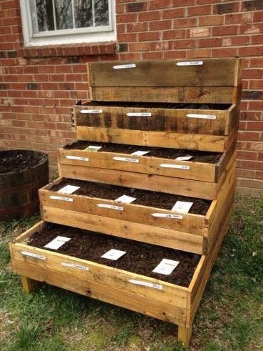 reclaimed wood spring pallet raised garden beds