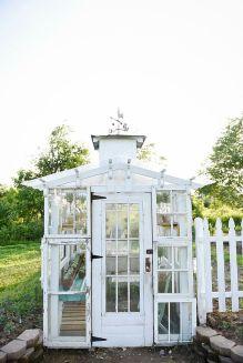 spring diy backyard greenhouse vintage windows antique doors