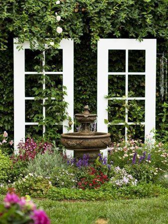 vintage door garden trellis diy