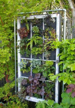 vintage window garden herb planter diy