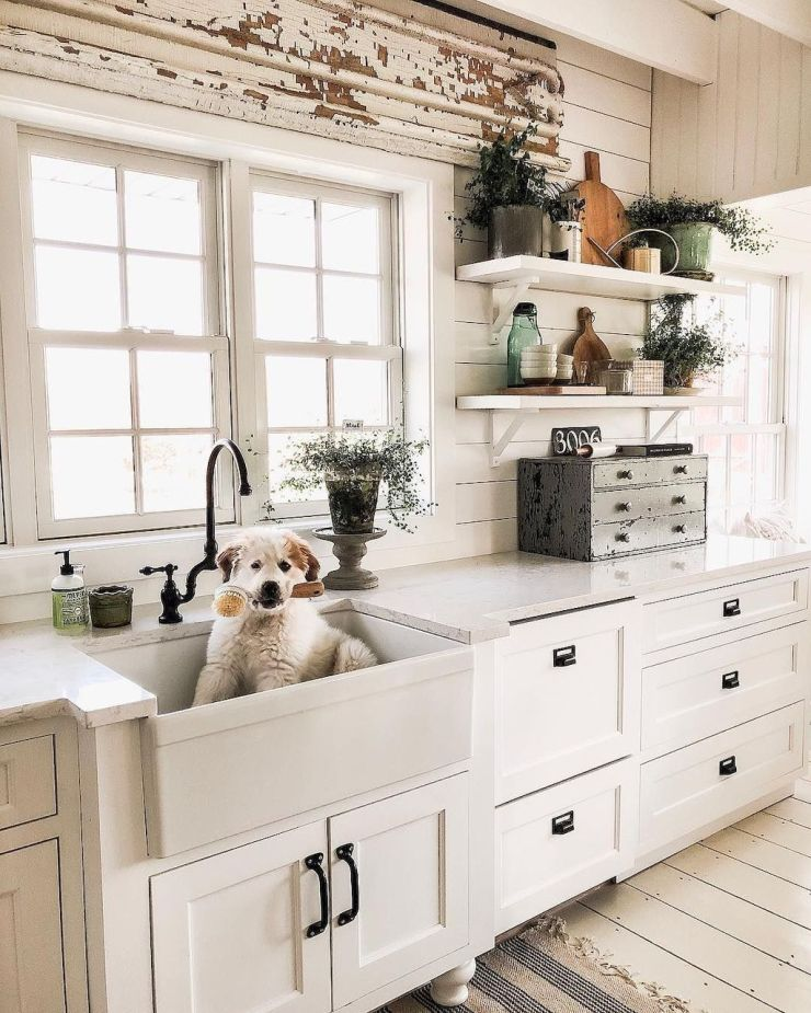 white Farmhouse-Kitchen-Elements-DIY-project-Part-26
